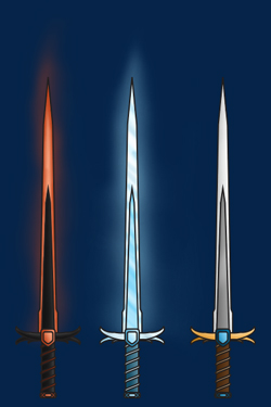 Colored weapon examples